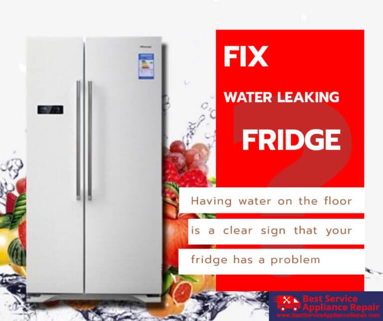 Water leaking refrigerator